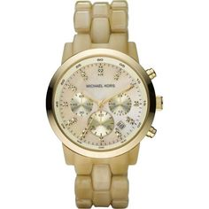 Michael Kors Watches Ladies Chronograph Horn