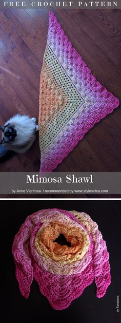 Take a look at how it is beautiful, an amazing project for summer relaxing time. There are many ideas for stunning evening shawl, but there is just something