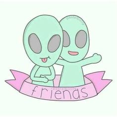 Image about friends in overlays/backgrounds by Sandra Tumblr Hipster, Png Tumblr, Alien Drawings, Tumblr Drawings, Cute Drawings, Tumblr Stickers, Cute Stickers, Label Stickers, Tumblr Clipart