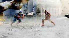 Avengers - Captain America and Iron Man teamwork