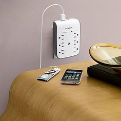 THIS GUY. This advanced surge protector helps safeguard your computer and peripherals against damage, data loss and system crashes. Plus, it's wall-mountable so you can enjoy extra outlets without extra cords.