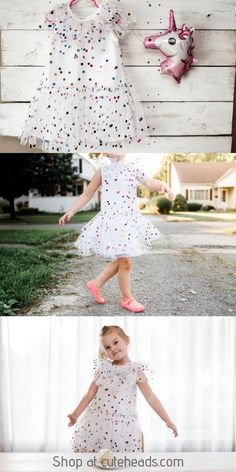 Polka dot party dresses - Girl's White Tulle Confetti Polka Dot Party Dress – Polka dot party dresses Toddler Fashion, Toddler Outfits, Kids Fashion, Girl Outfits, Fashion Ideas, Women's Fashion, Polka Dot Party Dresses, Dress Party, First Birthday Dresses