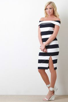 Bardot Bold Striped Bodycon Dress