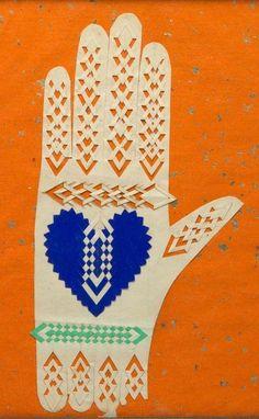 Old Paper, Paper Art, Paper Crafts, Evans, Orange Paper, Hand Illustration, Landscape Illustration, Heart Art, Painting Frames