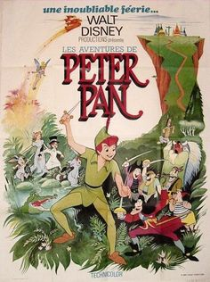 French vintage Peter Pan poster Plus