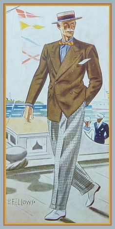 Summer Combination -1933- Apparel Arts. Drawing by Laurence Fellows.