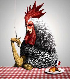 Chicken lady? (Antoine Helbert illustrations)