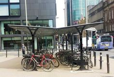Blueton Limited - The new name in street furniture - Ref 4008 Cycle Shelter #landscape architecture, #street furniture, #cycleshelter, #site furnishings