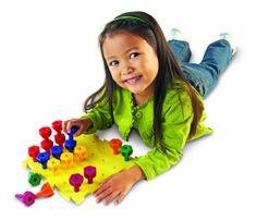 Arcobaleno Peg Play Imparare i colori, i numeri e le forme con la tavoletta e i 30 pioli del arcobaleno è  una vera sfida di coordinamento mano-occhio. http://www.giocotherapy.it/14-fine?&p=7