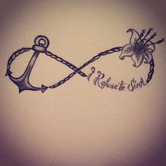 What does refuse to sink tattoo mean? We have refuse to sink tattoo ideas, designs, symbolism and we explain the meaning behind the tattoo. Anchor Tattoo Wrist, Anchor Tattoos, Infinity Tattoos, Nautical Tattoos, Ocean Tattoos, Wrist Tattoos For Women, Small Tattoos For Guys, Tattoos For Daughters, Verse Tattoos