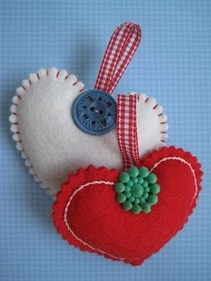 button & felt . Use this as gift tag or stocking tag and personalize with name
