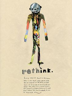 Sustainability poster on ink