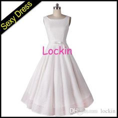 New Women's Classic Audrey Hepburn Style Lace Flower Pin Up Dress Lace Bow 50s Vintage Dress Party Dress Sreet Style from Lockin,$24.4 | DHgate.com