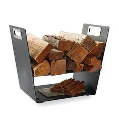 Fiammata Log Holder By Porta Forma - Frontgate Firewood Holder, Firewood Logs, Firewood Storage, Pool Float Storage, Range Buche, Log Holder, Modern Outdoor Furniture, Outdoor Decor, Decorative Towels