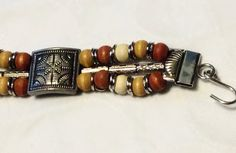 Wood and Metal Tribal Design Belt by summerhills on Etsy, $27.00