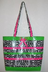 Zebra Print Purse with Neon Green and Hot Pink Accent $19.99