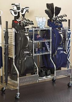 Delight the golfer in your life this Christmas with the Double Golf Organizer; an organizational piece that stores everything from shoes to gloves to keep your garage clean and his golf game top notch.