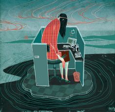 Victor Ngai- Lonely Cubicle Island, Sunday Business