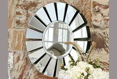Petal Mirror by Global Views Interior Design And Build, Decor Interior Design, Interior Decorating, Design Interiors, Herman Miller, Custom Couches, Home Improvement Contractors, Leather Loveseat, Round Mirrors