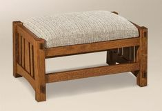 Amish McCoy Mission Footstool Add that extra comfort with an exceptional footstool. Solid wood luxury that will last. Wood furniture made in America. #footstool