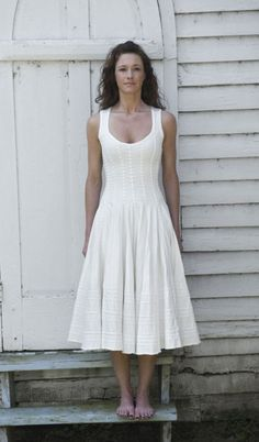 "Alabama Chanin ""Agnes"" Dress ... this is hand stitched and to me has a lovely Appalachia feel/look."
