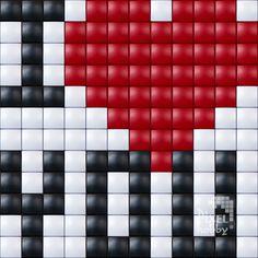 #iloveyou #valentine #romantique #love #hobby #pixelhobby #pixelen #valentijn #liefde Pony Bead Patterns, Perler Patterns, Beading Patterns, Cross Stitching, Cross Stitch Embroidery, Perler Bead Emoji, Corner To Corner Crochet Pattern, Pixel Crochet, Diamond Art