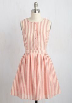 Barnhouse Bash A-Line Dress in Muted Red, @ModCloth