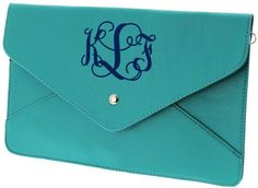 tinytulip.com - Monogrammed Envelope Clutch Cross Body Purse, (http://www.tinytulip.com/monogrammed-envelope-clutch-cross-body-purse)