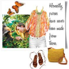 White Hudson Bermuda shorts, orange/ white Michael Kors blouse, UGG brown sandals or Hush Puppies wedges, turquoise necklace