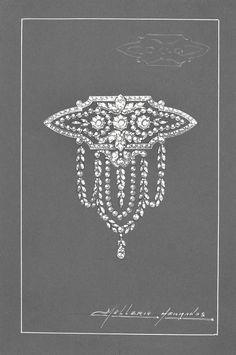 Diamond Front Bodice circa 1908 Mellerio Dits Meller