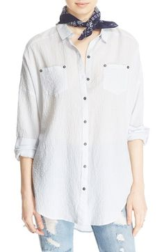 FREE PEOPLE 'Love Her Madly' Puckered Top. #freepeople #cloth #