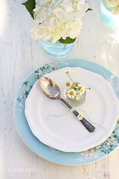 Rustic and Refined...Ball Jars and Pretty Plates