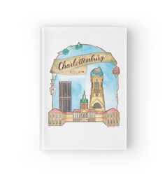 Berlin Charlottenburg Aquarell Illustration von farbcafe Notizbuch / Notebook für #schule oder #universität #aquarell #watercolor #illustration #lettering