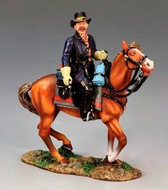 Civil War Union CW058 Major General John Buford Mounted - Made by King and Country Military Miniatures and Models. Factory made, hand assembled, painted and boxed in a padded decorative box. Excellent gift for the enthusiast.