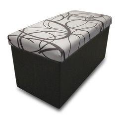 Memory Foam Foldable Ottoman Upholstery: White - http://delanico.com/ottomans/memory-foam-foldable-ottoman-upholstery-white-630964381/