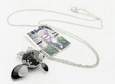 Drill Embellished Goldfish Silver Chain Necklace    $7.47