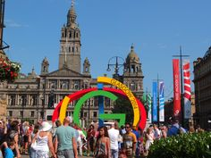 George Square looking lovely for the visitors.