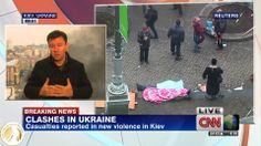 """Coverage of Ukraine Unrest : ""Shooting in Independence Square"""" 24-Hour News Programme #Nominee - #USA - #GoldenNymph - @CNN International  Nommé dans la catégorie Programmes d'actualités 24heures/24"