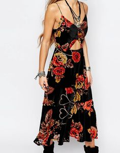 Image 3 of Honey Punch Cut Out Maxi Dress In Festival Floral