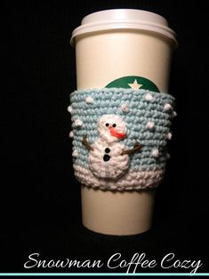Snowman Cozy with French knot snow!