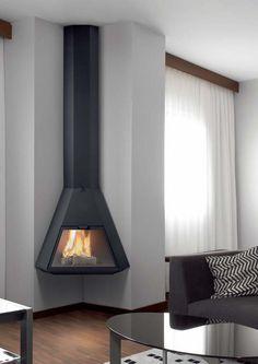 Chimeneas metalicas de esquina buscar con google calor - Casete para chimeneas ...