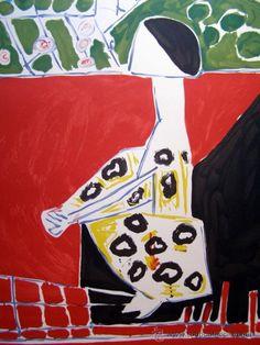 Pablo Picasso: Femme Accoupri. Litografía limitada y numerada en todocoleccion.