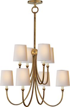 Thomas O'Brien REED EIGHT LIGHT CHANDELIER in Antique Nickel 895.00 - Dining Room