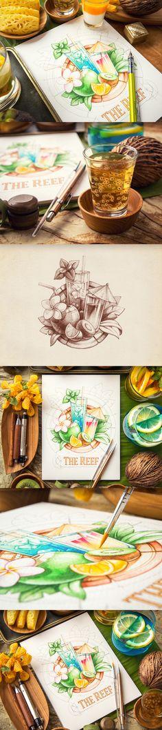 Resultado de imagen para dibujos de diseño grafico a lapiz a color ...