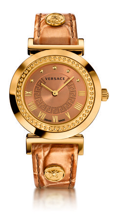 The Versace Vanity now in gold, epitomizes the chic and glamorous soul of the Maison. #Versace #VersaceWatches