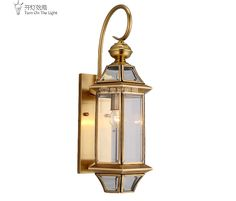 89.00$  Watch here - http://aitj6.worlditems.win/all/product.php?id=32698207892 - Copper lamp waterproof outdoor wall lamp European full copper lamp