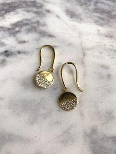CZ  Earrings, CZ Dangle Earring, Pave Earring by iiShiiDesigns on Etsy