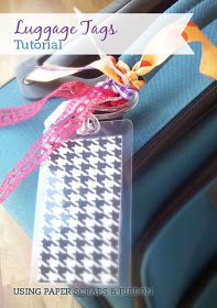 DIY Luggage Tags Using Paper Scraps and Ribbon: Little Paper Dog