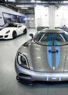 Blue, long car