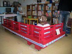 school bench1 Pallet reading corner for a school in store kids furniture  with sofa School Kids Corner Bench